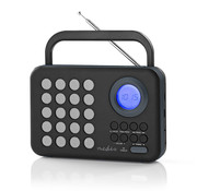 Nedis FM radio klok - Wekker - PPL - 3W - zwart/grijs - MicroSD + USB
