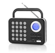 Nedis FM radio klok - Wekker - PPL - 3W - zwart/wit - MicroSD + USB