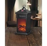 Easymaxx Metalen LED lantaarn met vlameffect en verwarmingsfunctie - Afstandsbediening