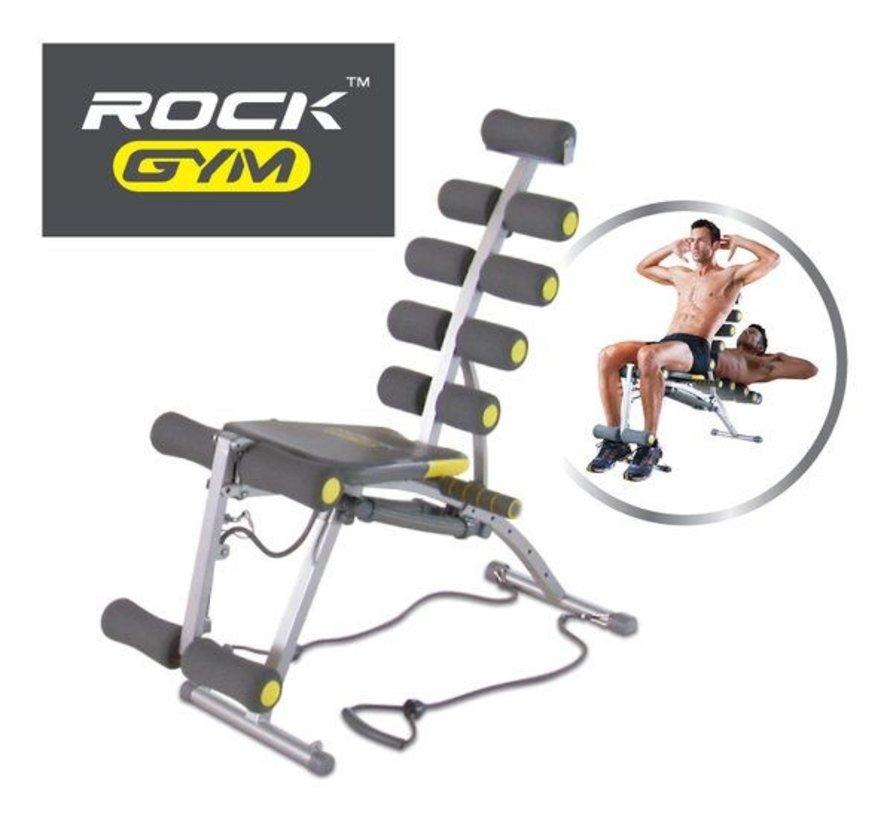 6-In-1 fitnessapparaat voor buikspieren, kracht training en cardio
