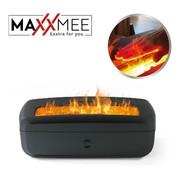 MAXXMEE Sfeerhaard met bevochtigingsfunctie, watermist en lichteffecten - 1L watertank - Veilig