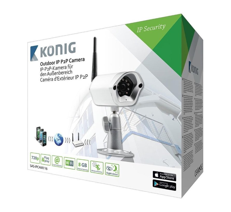 Beveiligingscamera HD Buiten - 720P - Metaal - APP - Bewakingscamera
