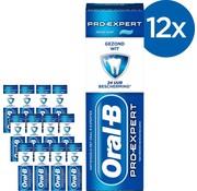 Oral-B Tandpasta - Pro-Expert Gezond Wit - Voordeelverpakking 12x75 ml