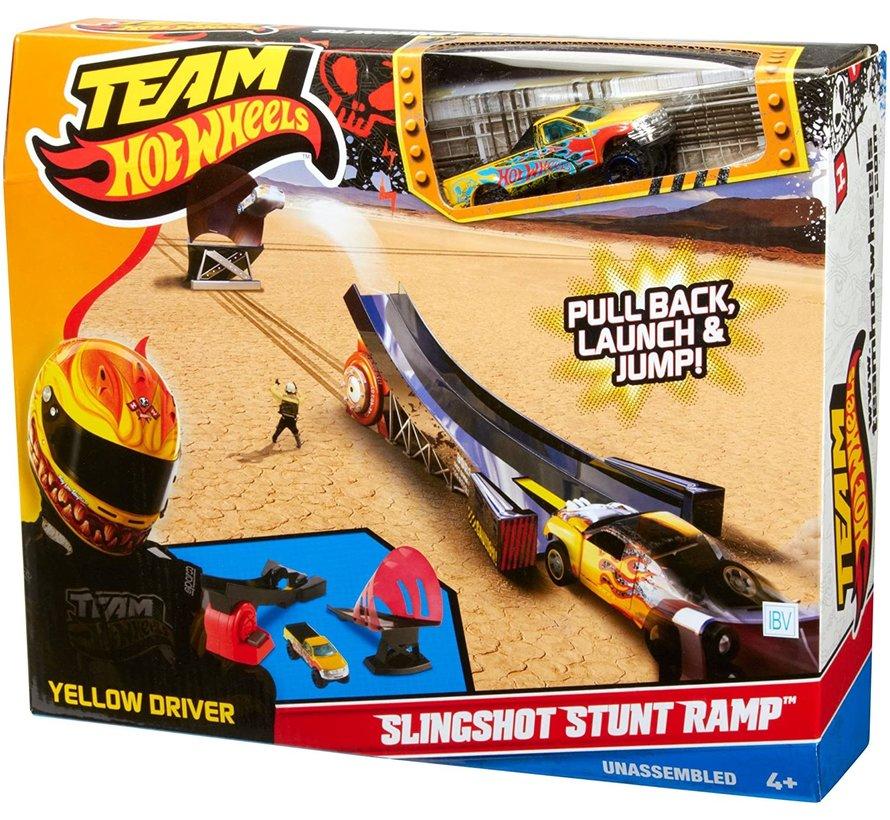 Hot Wheels - Slingshot Stunt Ramp - Met 1 auto - Speelset
