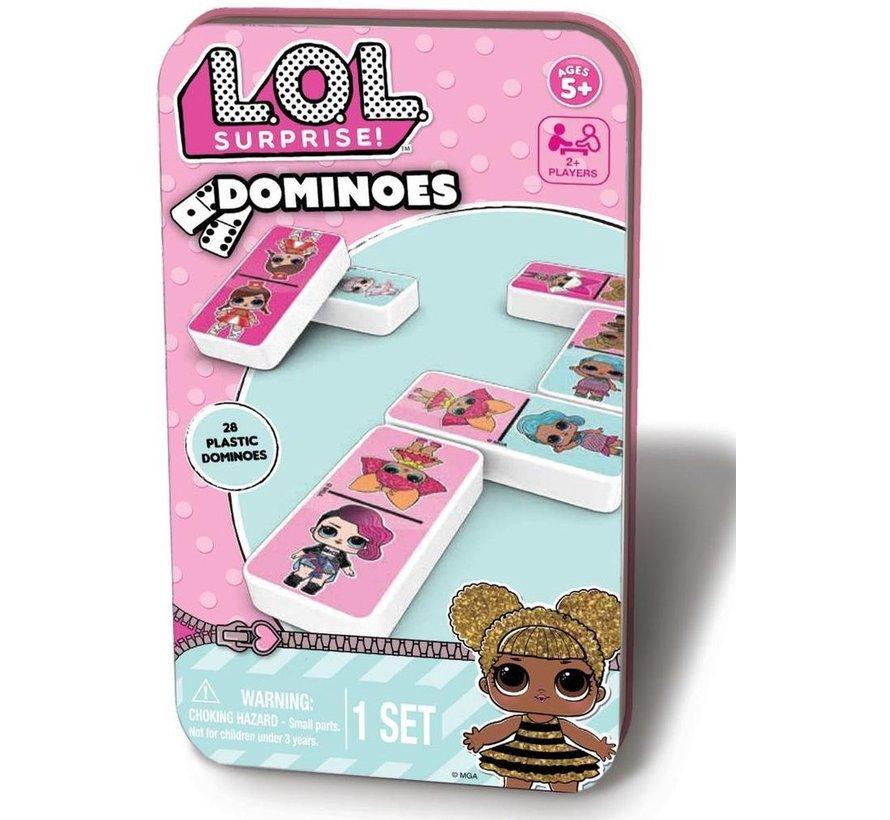 L.O.L. Surprise! - LOL Dominos met Bewaardoos van blik