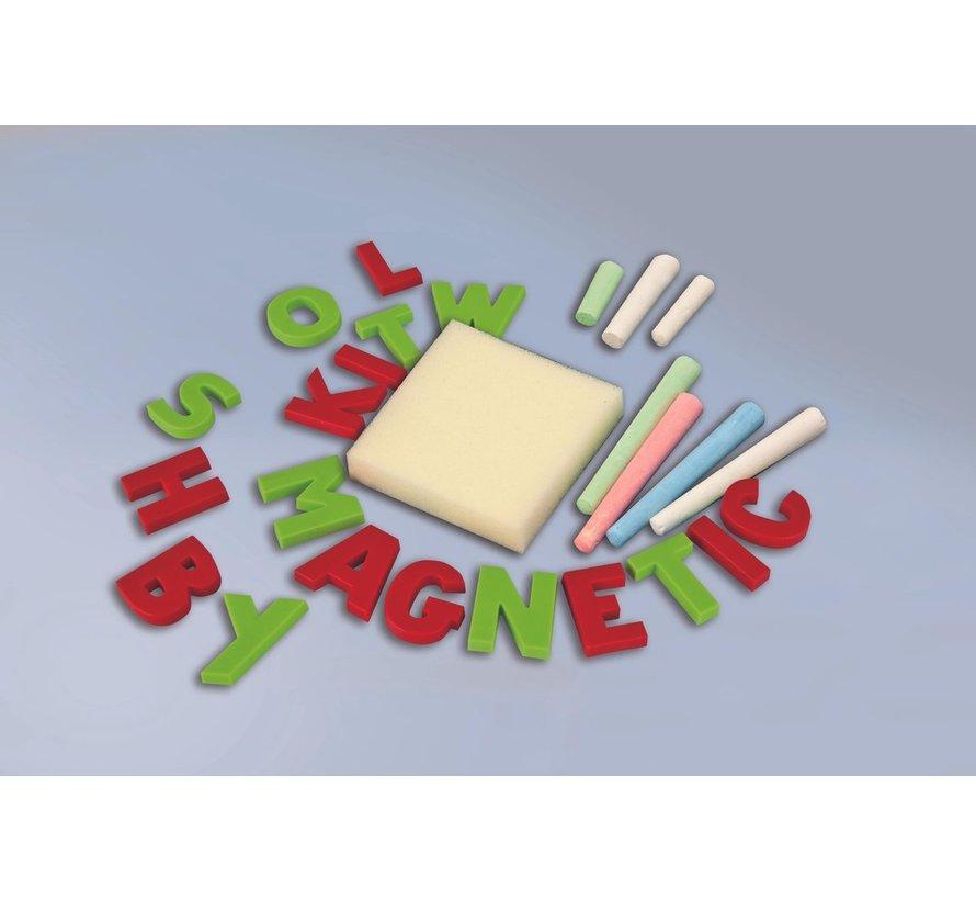 Magnetisch Krijtbord / Tekenbord met accessoires - 110cm hoog