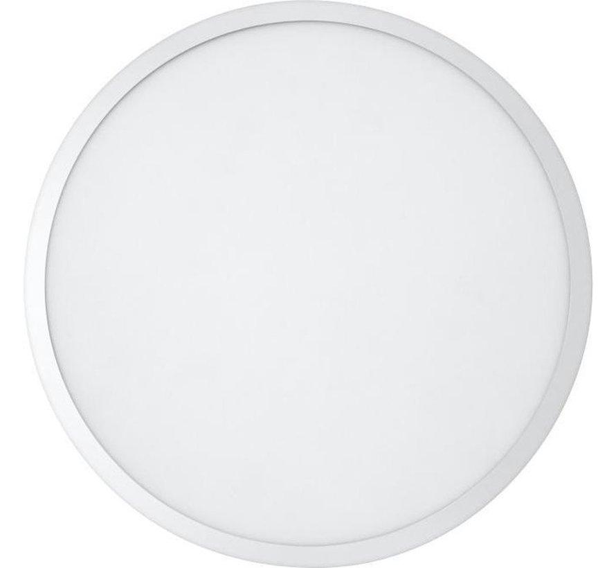 PLANON Paneelarmatuur LED rond - 45W - Warm wit - 60cm - Aluminium - Plafondlamp