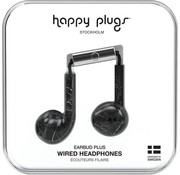 Happy Plugs Earbud Plus - In-ear oordopjes - Zwart / Marble