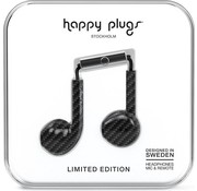 Happy Plugs Earbud Plus - In-ear oordopjes - Zwart / Carbon - Limited Edition