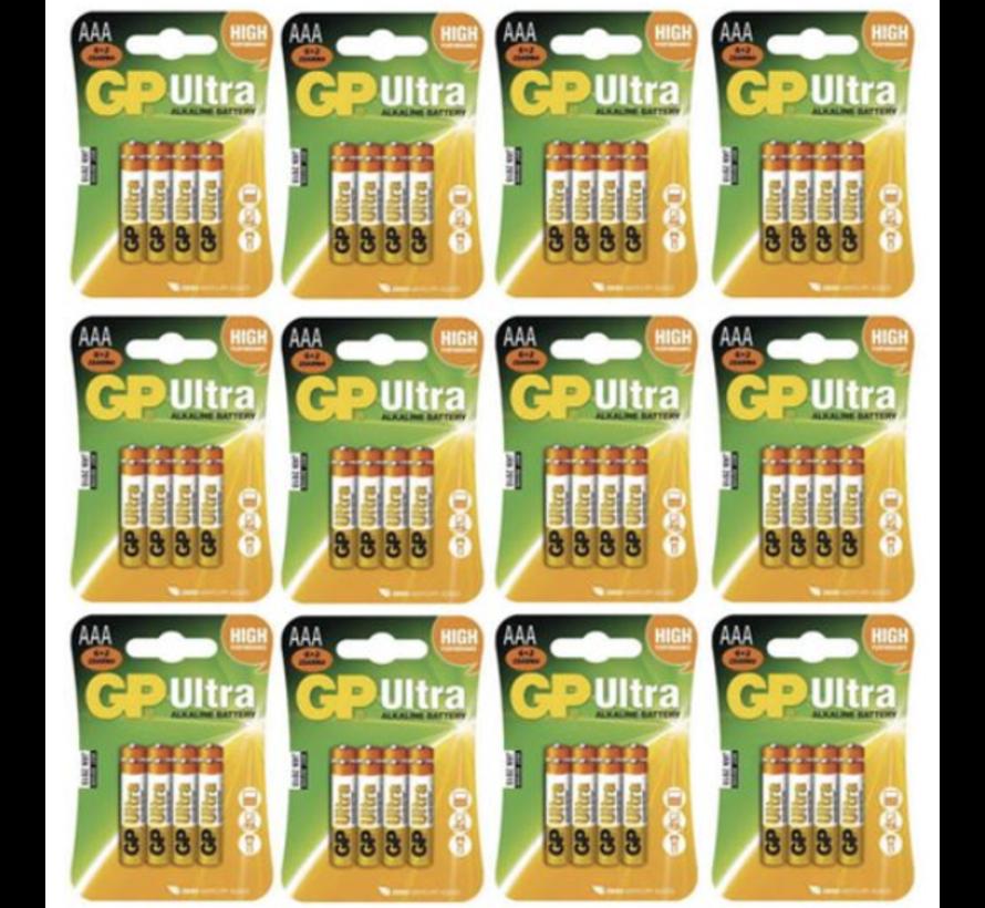 Ultra Alkaline AAA batterijen - 8 stuks