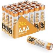 GP Ultra Alkaline AAA batterijen - Voordeelpak - 24 stuks