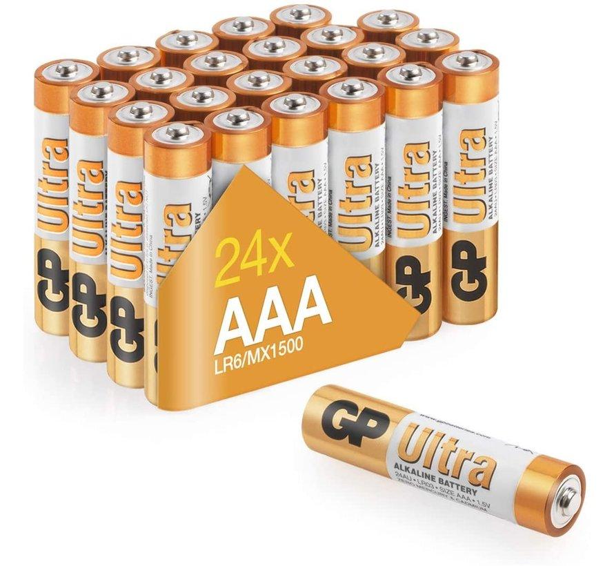Ultra Alkaline AAA batterijen - Voordeelpak - 24 stuks