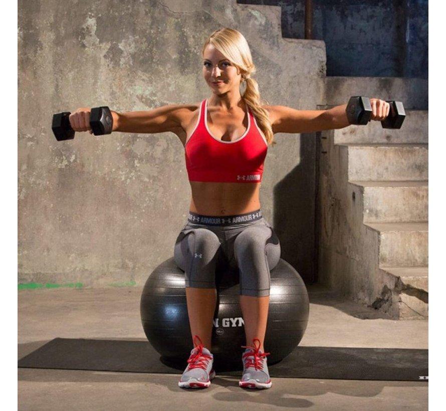 Exercise Ball 55cm - Trainingsbal - Fitnessbal - Swiss Ball - Inclusief pomp