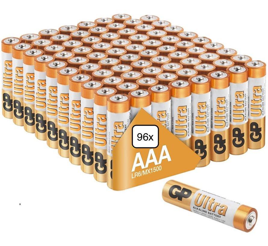 Ultra Alkaline AAA batterijen - MEGA voordeelpak  - 96 stuks - Jaarvolume
