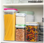 Innovagoods 4-Delige set voedselcontainers Pilocks - Stapelbaar en luchtdicht