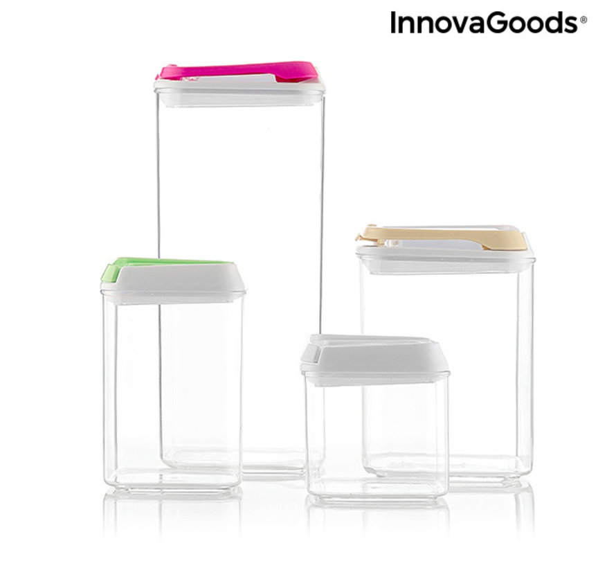 4-Delige set voedselcontainers Pilocks - Stapelbaar en luchtdicht