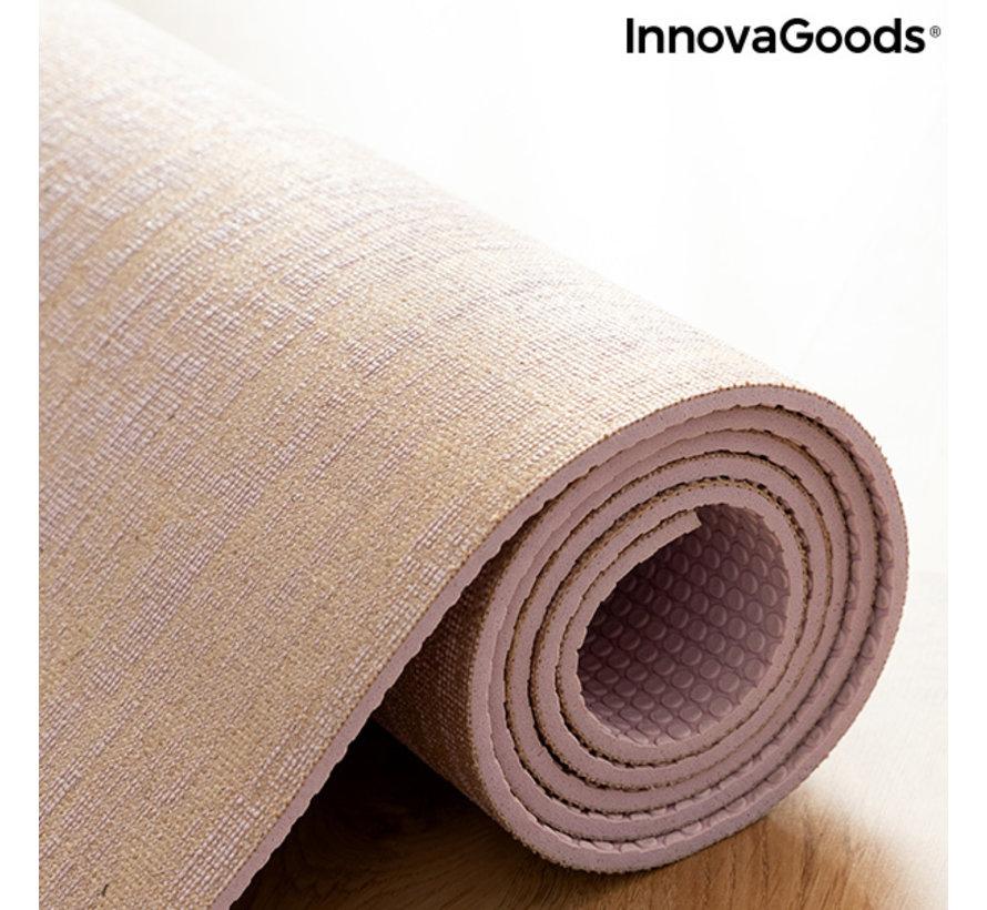 Hoogwaardige Juten Yoga Mat Jumat - Inclusief draagriem - Antislip