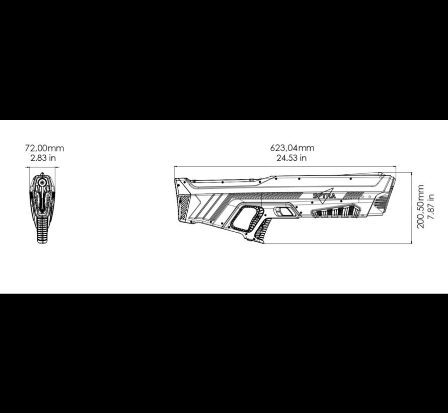 One - Waterpistool - enkel - rood