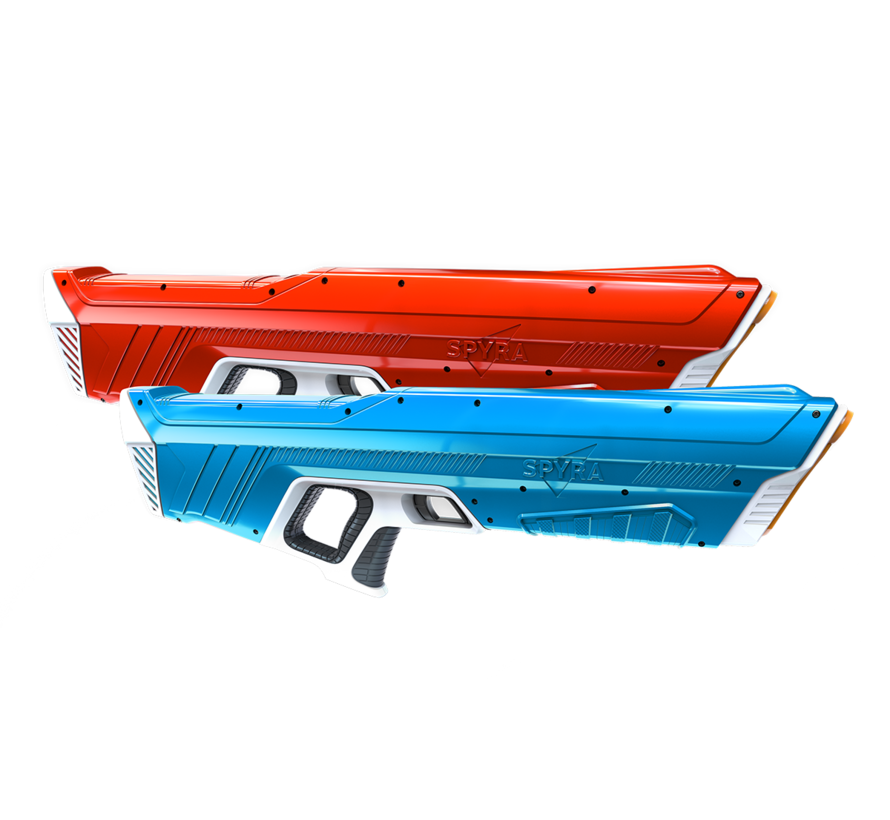 One - Waterpistool - dual set van 2 stuks - 1 rood & 1 blauw