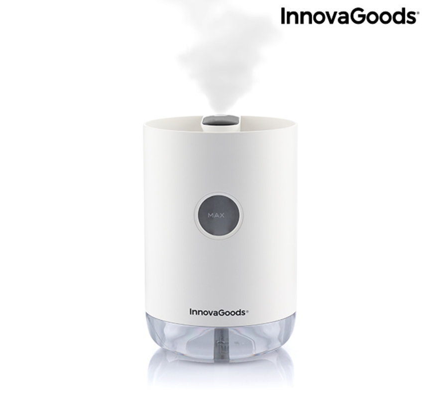 Design Luchtbevochtiger Ultrasonisch - Oplaadbaar met nachtlampje