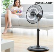 Innovagoods Staande ventilator - Zwart - 60 Watt - Ø 30cm x 90cm - 360° draaibaar