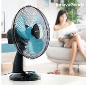 Innovagoods Tafelventilator - Zwart/Blauw - 35 Watt - Ø30cm - 90° draaibaar