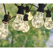 Party Lights Feestverlichting met 10 transparante lampjes - 100 LED - warm wit - 7,5M