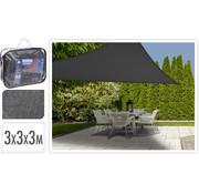 Ambiance Luxe Waterdoorlatende Schaduwdoek - Grijs - driehoekig - 3x3x3 Meter