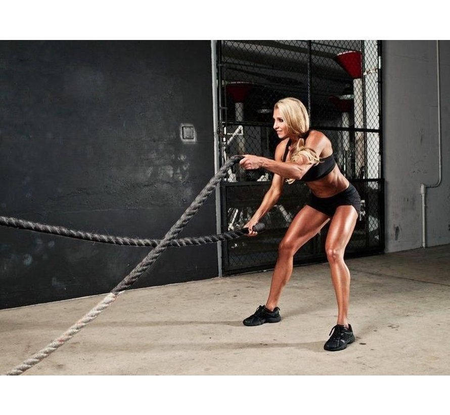 Pro Battle Rope - Fitness Touw - 3,8 cm dik - 12 meter lang