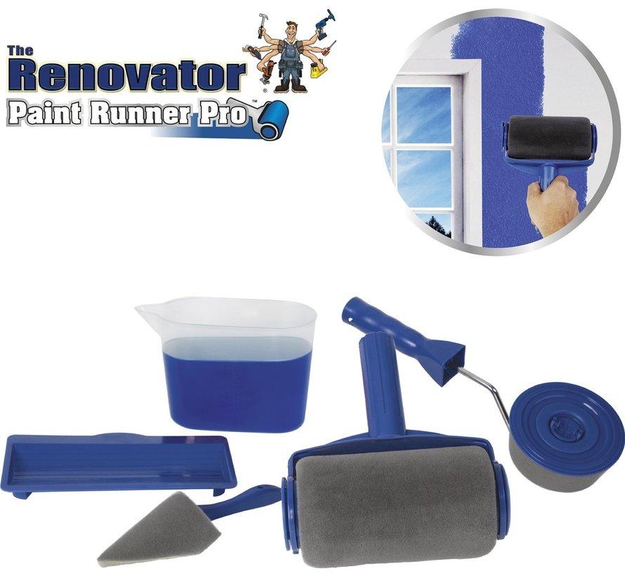Paint Runner Pro - Verfroller met reservoir, hoekstrijker en randroller