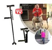 Bekend van TV Clever Cane - Inklapbare wandelstok - LED lamp - Alarm - Opvouwbaar - Inklapbaar