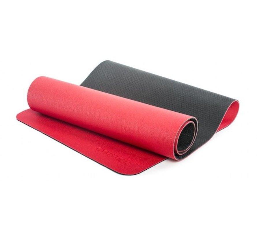 Pro Yoga Mat - Met Online Trainingsvideo's - Rood / Zwart