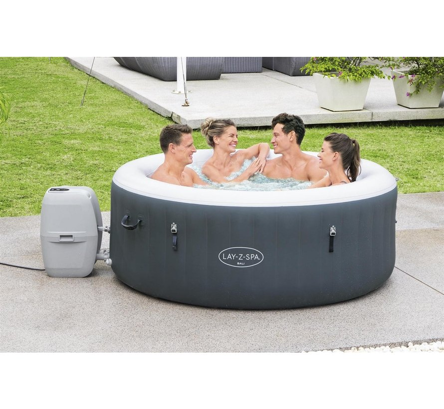 Lay-Z-Spa Bali LED - Max 4 pers - 120 Airjets - Jacuzzi - Bubbelbad - Whirlpool