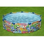 Bestway Zwembad met metalen Frame Rond met leuke dierenprint - 274x66cm
