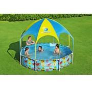 Bestway Zwembad Frame Rond met zonnescherm voor kinderen (244x51cm)