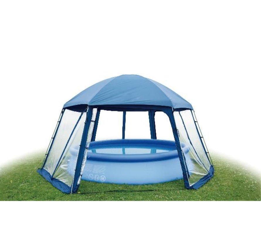 Zwembadoverkapping XXL - Pool House Type 2 - 600x520x280cm