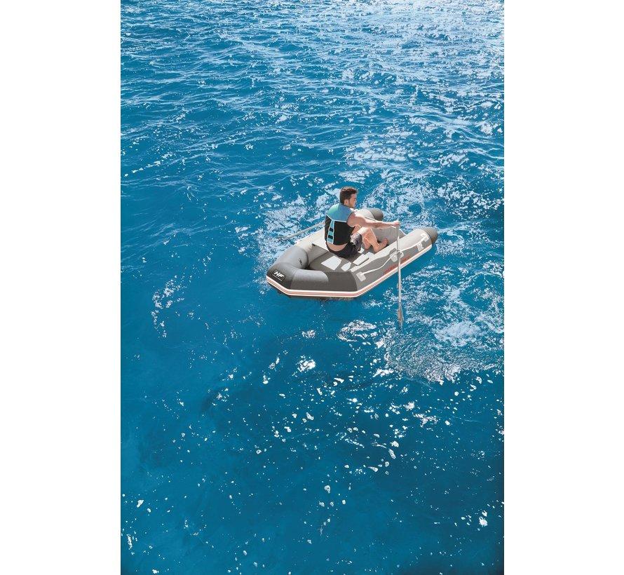 Hydro-Force Caspian set - Opblaasbare 2-persoons boot - Handpomp + Roeispanen - 230x130x33cm