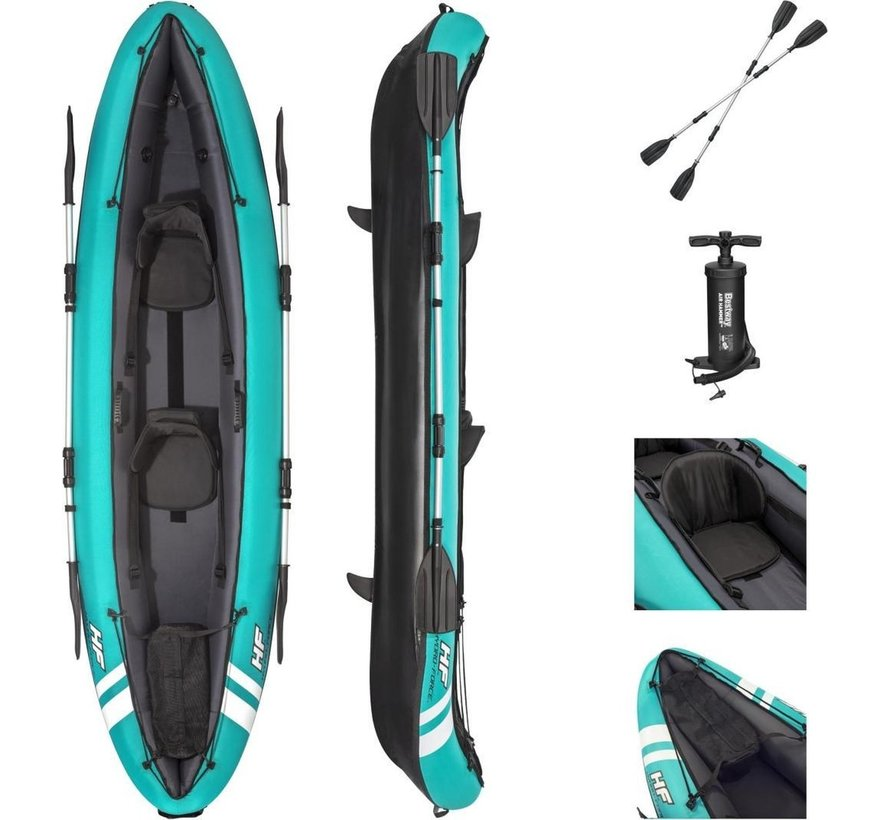 Hydro Force 2-Persoons opblaasbare kajak Ventura X2- Complete set - 330cm