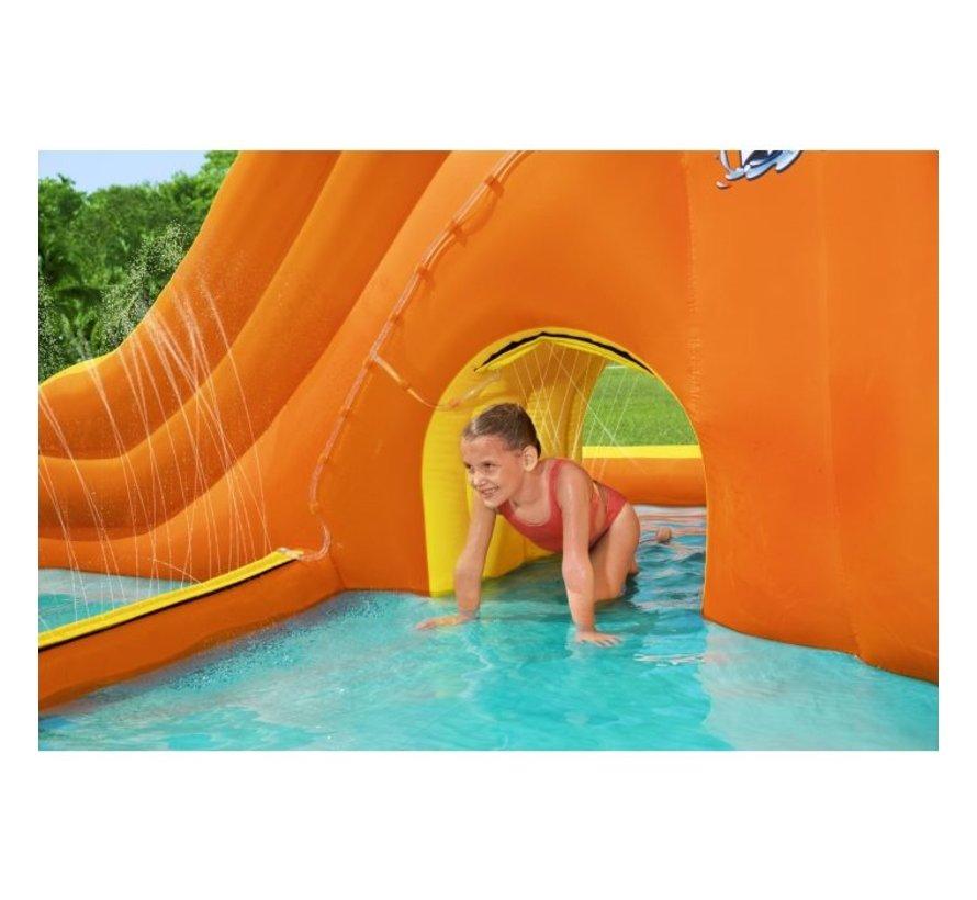 H2OGO! Tidal Tower Mega Opblaasbaar Waterpark met glijbaan 565x373x265cm