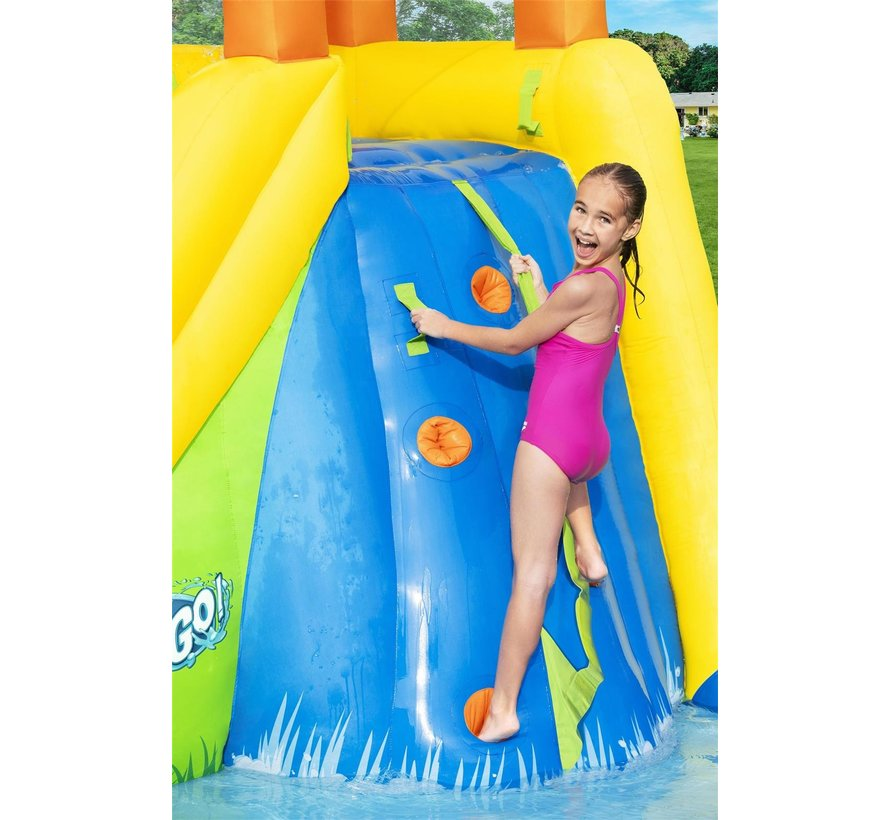 H2OGO! Mount Splashmore Opblaasbaar Waterpark met glijbaan 435x286x267cm