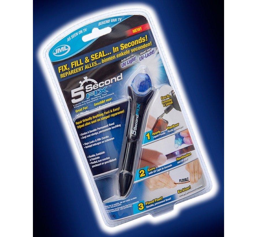 2 stuks - 5 Second Fix - Lijmpen met UV lamp - 5 seconden - Bekend van TV