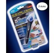 JML 2 stuks - 5 Second Fix - Lijmpen met UV lamp - 5 seconden - Bekend van TV