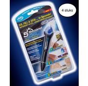 JML 4 stuks - 5 Second Fix - Lijmpen met UV lamp - 5 seconden - Bekend van TV