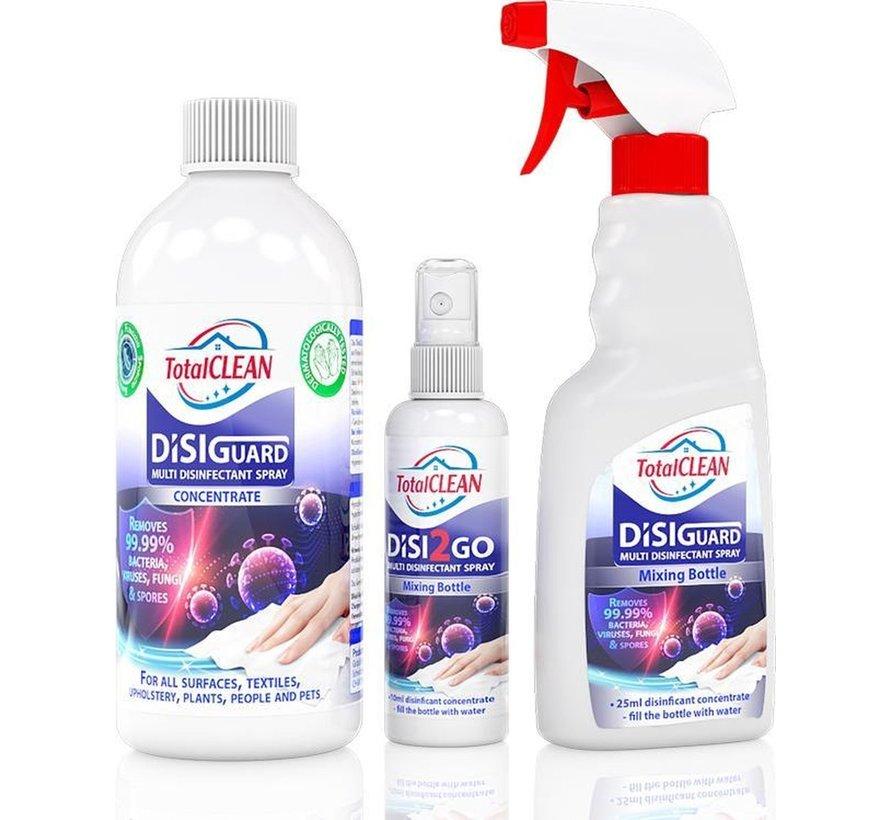 DISIguard Concentraat - Desinfectie spray - 500ml - Inclusief meng- en reisfles