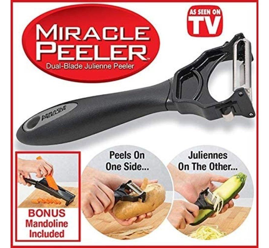 Miracle Peeler 2in1 - Zwart - Kunststof - Dunschiller