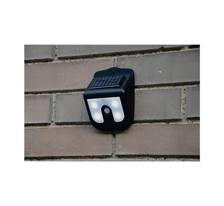 Solar LED wandlamp met bewegingsmelder / bewegingssensor