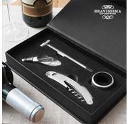 Bravissima Kitchen Set van Luxe Wijnaccessoires (4 stuks) - Magnetische Geschenkdoos