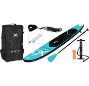 XQ-Max Opblaasbaar SUP board set - Blauw - met pomp,  peddel en draagtas - 305x71x10cm