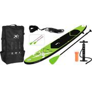 XQ-Max Opblaasbaar SUP board set - Groen - met pomp,  peddel en draagtas - 305x71x10cm