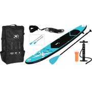 XQ-Max Opblaasbaar SUP board set - Blauw - met pomp,  peddel en draagtas - 320x76x15cm